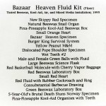 Bazaar Heaven Fluid Kit Inventory